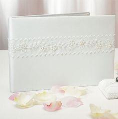 Sweet Art Wedding Guest Book | White Guest Book | Wedding Guest Book