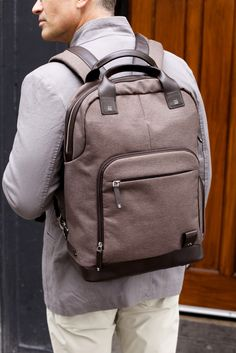 The Medina Backpack is the perfect bag for those who want the capacity and functionality of a backpack but appreciate sophisticated design. Ideal for back-to-school, this backpack can hold books, laptops, tablets and more!