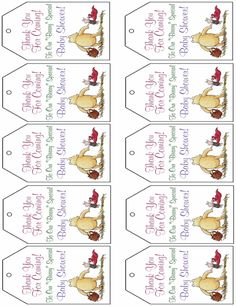 Princess baby shower ideas and free princess printable decorations winnie the pooh gift tags free printable ideas negle Image collections