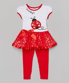 Loving this Red Ladybug Tunic & Leggings - Toddler & Girls on #zulily! #zulilyfinds