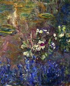 Claude Monet - Fleurs de lys (1908)