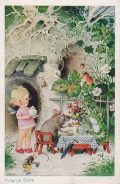 Vintage German Postcard 1484 1  1950s. by RussianSoulVintage