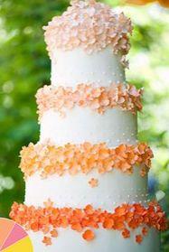 Spring Flower Wedding Cake www.carolrichelle.com