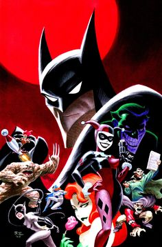 The Batman Adventures: Dangerous Dames & Demons trade cover  by Bruce Timm