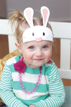 Free Printable Easter Masks...There is a bunny, bird and chick..super cute!
