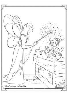 Blue Fairy 1 coloring page. This Blue Fairy 1 coloring page is available for free in Pinocchio coloring pages. Fairy Coloring Pages, Cartoon Coloring Pages, Disney Coloring Pages, Printable Coloring Pages, Adult Coloring Pages, Coloring Pages For Kids, Coloring Books, Kids Coloring, Pinocchio