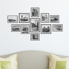 1 Set Building Landmarks Photo Wall Decals Picture Painting Combination Stickers Home Wall Decor^ -- More info could be found at the image url. Photo Wall Stickers, Wall Stickers Murals, Wall Murals, Decals, Wall Collage, Frames On Wall, Framed Wall, Picture Wall, Photo Wall Art