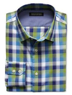 Tailored Slim-Fit Non-Iron Border Check Shirt