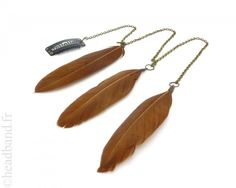 Extension plumes à clip marron - www.headband.fr