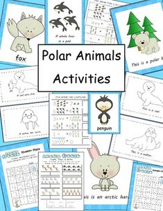 $ Polar Animals Activity Pack....Common Core Aligned Literacy & Math Activities & More! 69 pages!
