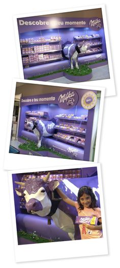 Milka POS communication and product display by Nuno Alves, via Behance