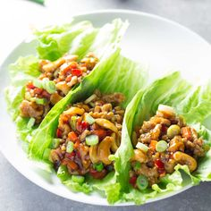 These Cashew Chicken Lettuce Wraps with Orange-Ginger Sauce are a light and healthy 30 minute meal that's packed with flavor!