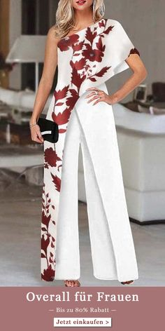 Elegante Jumpsuits, Classy Outfits, Casual Outfits, Mother Of Bride Outfits, Off Shoulder Jumpsuit, Jumpsuit Dress, Mode Outfits, Mode Style, Jumpsuits For Women