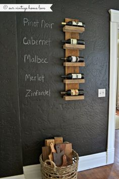 DIY wine holder - Our Vintage Home Love
