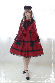 Neverland Lolita -Devil's Wings- Gothic Lolita OP Dress