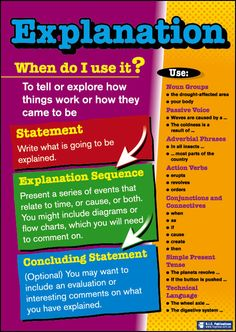 Explanation Structure Poster