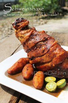 Schweinshaxe Recipe, Crispy Roasted Pork Knuckle or Ham Hock (Step by Step Pictorial Recipe) | DENTIST CHEF http://dentistvschef.wordpress.com/2013/12/06/schweinshaxe-recipe-crispy-roasted-pork-knuckle-or-ham-hock-step-by-step/