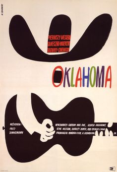 1964 poster by Witold Janowski for Oklahoma