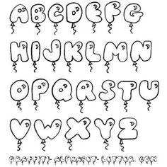 Cute Bubble Letters Graffiti Fonts - Polyvore