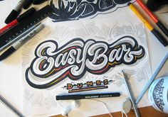 lettering sketches (2014-2015) on Behance
