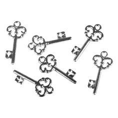 Acryl-függõ Schlüssel, 2,3cm, 24db