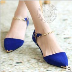 Spring 2013 new women's flats shoes, metal point documentary shoes,sandals $16.81