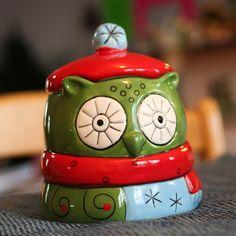 Christmas Owl Jar