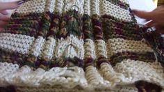Poncho de adulto em tricô