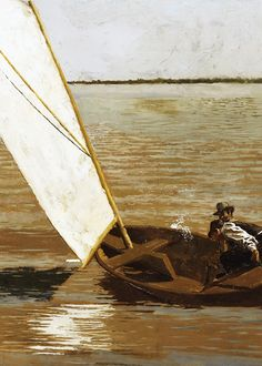 Thomas Eakins, Sailing (detail), ca. 1875 (x)