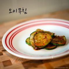Oi Muchim - A Korean Cucumber Side Dish (Mom's Recipe)
