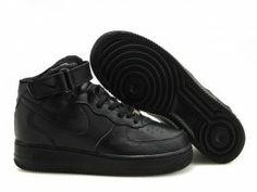 nike air force 1 mid donne scarpe tutto nere offerte negozio di vendita online