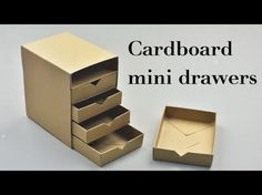 DIY Cardboard Mini Drawers Tutorial - YouTube