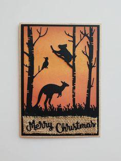 Simple Christmas Cards, Xmas Cards, Handmade Christmas, Holiday Cards, Christmas Crafts, Christmas Ideas, Australian Christmas Cards, Aussie Christmas, Card Companies