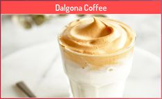 Dalgona Coffee #coffee #dalgona High Protein Bariatric Recipes, Good Protein Snacks, Protein Shake Recipes, Protein Foods, Strawberry Banana Protein Shake Recipe, Vanilla Protein Shakes, Protein Coffee, Gingerbread Latte, Vanilla Recipes