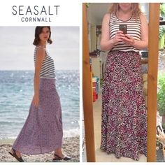 Outfit inspiration Top: £22.50 Skirt: £59.95  Made by me Top: £4 Skirt: £10  Another reason why I love sewing 😄  @guthrieghani #gandgsummerwardrobe #grainlinepatterns #grainlinescout @sewaholic #sewaholicgabriola #gabriolaskirt #minervacrafts Fabric from @fabworksmillshop and @minervacrafts