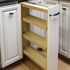 What's Included? Mounting Kit Features Adjustable Shelves Wood Holds Up to 28 lbs #kitchendesign #kitchendrawers
