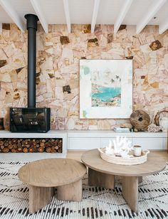 Kyal and Kara | Blue Lagoon Gallery - GlobeWest Living Room With Fireplace, Living Room Modern, Rugs In Living Room, Living Room Designs, Living Room Decor, Living Room Inspiration, Interior Design Inspiration, Kyal And Kara, Craftsman Living Rooms