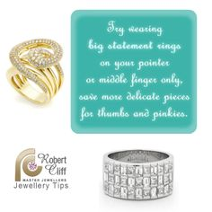 #JewelleryTip: Love wearing big statement rings?Use this handy #fashiontip for styling! #jewelrytips #jewellerycare #jewelrycare #fashiontip #beautytip #bigstatementrings #fashionlover #jewelleryaddict