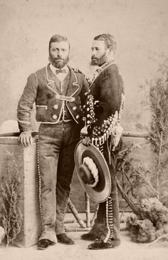 Bearded and Handsome Mexican Gentlemen. From a scarce CDV album of mexican occupationals made by the studio Cruces y Campa in the (Rancheros) Mexican Men, Mexican American, American History, Memento Mori, Old Pictures, Old Photos, Antique Photos, Mexico People, Mexican Revolution