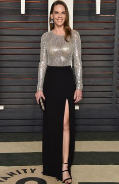 Hilary Swank is best dressed at the Vanity Fair Oscar After Party