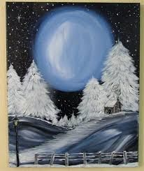 Image result for Winter wonderland, acrylic paintings