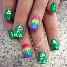 Saint Patrick's Day Nail Designs Click Pic for 19 Easy St Patricks Day Nail Designs Nail Art Designs, Simple Nail Designs, Nails Design, Salon Design, St Patricks Day Nails, St. Patricks Day, Saint Patricks, Diy Nails, Cute Nails