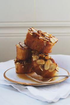 Vanilla Almond Baked French Toast   http://saltandwind.com