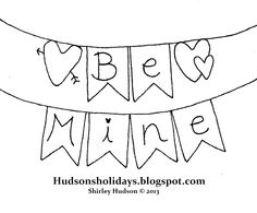 Hudson's Holidays - Shirley Hudson: Be Mine - freebie design