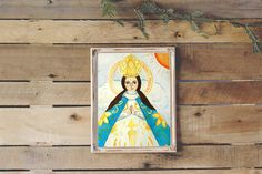 Virgen De San Juan Delos Lagos - Jalisco Mexico - Virgin Mary - Spanish Colonial Art - Retablo Art Inspired