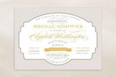 Lovely Label Bridal Shower Invitations by Sarah Brown at minted.com