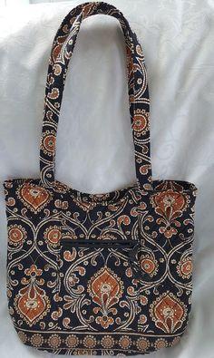 Vera Bradley Caffé Latte Bucket Tote Purse Handbag Retired #VeraBradley #bucketPurse