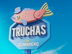 TRUCHAS designed by Aaron Martinez. Connect with them on Dribbble; Typography Inspiration, Design Inspiration, Daily Inspiration, Aaron Martinez, Best Icons, Flat Illustration, Illustrations, 3d Cartoon, Graphic Design Typography