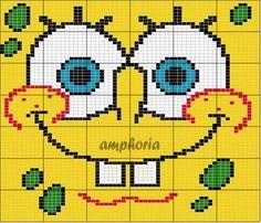 SpongeBob hama perler pattern