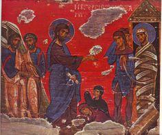 Lazarus_Athens.JPG (2968×2480) Christ Raising of Lazarus, Athens, 12-13th Century